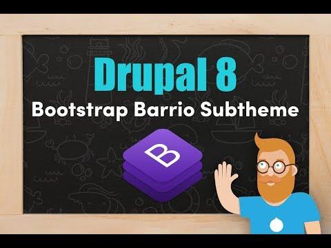 Drupal 8 Bootstrap Barrio sub-heme thumbnail