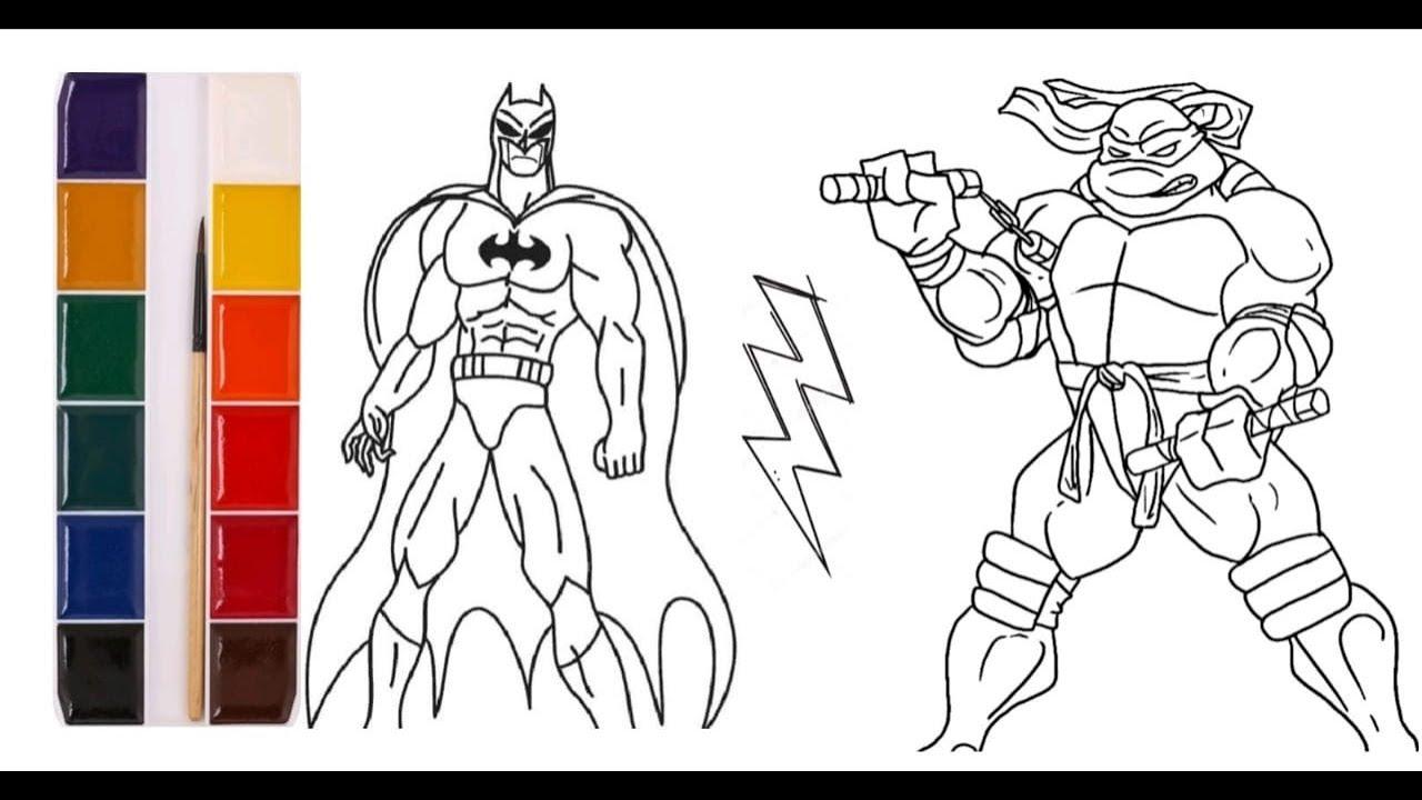 Бэтмен против Черепашек-Ниндзя. Бэтмен. Микеланджело.Микки ...