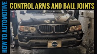 how to replace the thrust control arm s and ball joints on a 1999 2006 bmw x5 e53