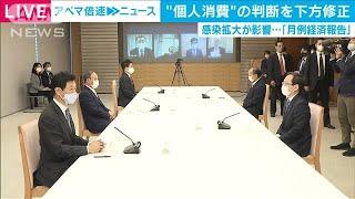 """再拡大で""""個人消費""""判断を下方修正 月例経済報告(2020年12月22日) - YouTube"""
