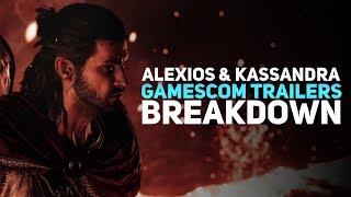 Assassin's Creed Odyssey - Alexios & Kassandra Gamescom Trailers Breakdown
