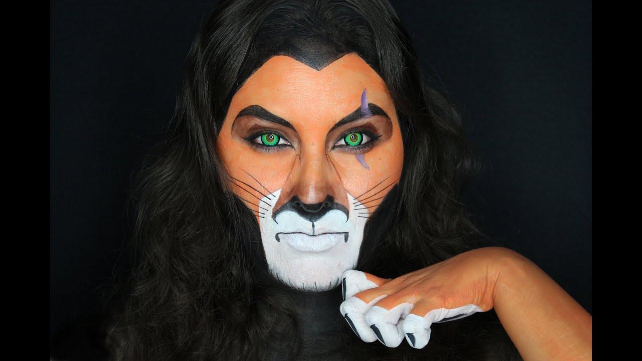 Scar The Lion King Face Paint Makeup Tutorial Youtube