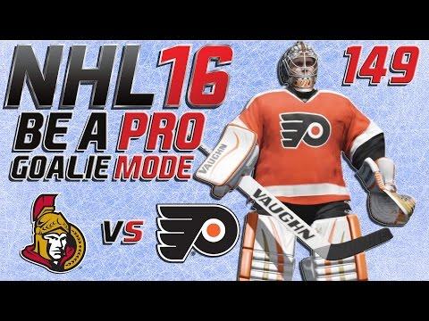 NHL 16 Torhütermodus [Be A Pro][60fps][Deutsch] #149 - Ottawa Senators - Philadelphia Flyers
