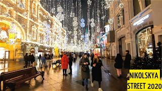 10 Minutes of Walking in Moscow as a Man - Nikolskaya Street And Red Square