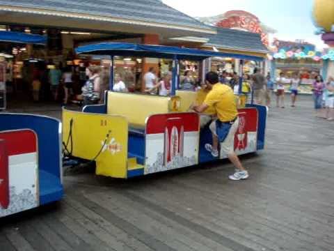 """Watch the tram car - PLEASE!"" - On the Boardwalk in Wildwood, New Jersey"