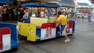 """""""Watch the tram car - PLEASE!"""" - On the Boardwalk in Wildwood, New Jersey"""