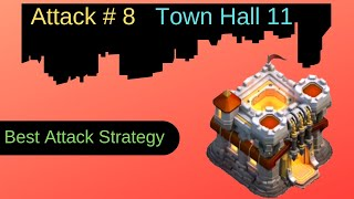 Attack # 8: Best Electric Dragon Attack on Town Hall 11 | Clash of Clans | Theory Of Game
