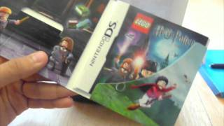 Lego Harry Potter Years 1-4 Holiday Edition Nintendo DS Unboxing