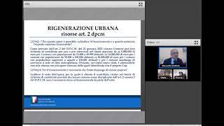 """20/05/2021 - I Contributi Del DPCM Per La """"Rigenerazione Urbana"""" E La Nuova Piattaforma GLF"""