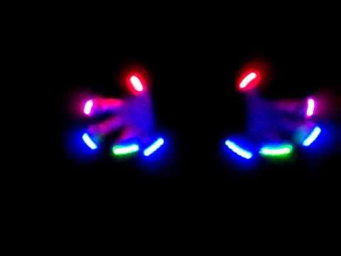 Zero Crisplights glove lightshow rave micro lights maxlight / gluvmax 12 modes