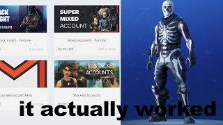 """J'ai donc acheté un compte Fortnite """"MYSTERY"""", et ça a marché..."""