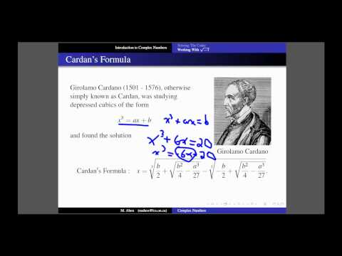 Complex Numbers: Lesson 1 Part 1 - A History