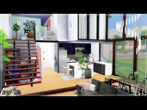 The Sims 4 | French Aesthetic Loft Apartment | House Speed Build + Download Links