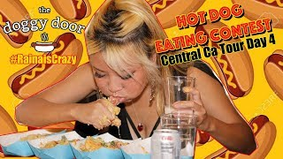 Hot Dog Eating Contest - The Doggy Door | Central CA Tour Day 4 | RainaisCrazy