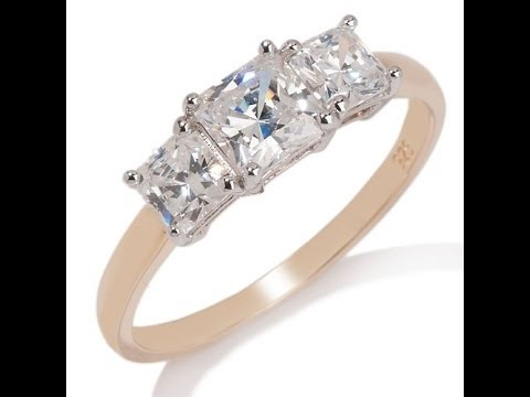 2ct Absolute PrincessCut 3Stone Ring. https://pixlypro.com/5YVIlLn