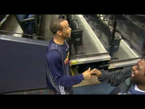 Monta Ellis' Amazing Circus Shot After Shoot Around
