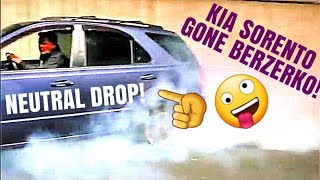 Kia Sorento out of control neutral drops burnout and donuts
