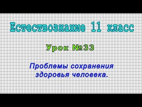 Естествознание 11 класс (Урок№33 - Проблемы сохранения здоровья человека.)
