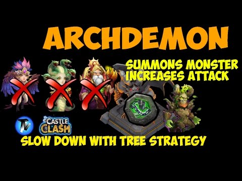 Castle Clash - Archdemon Guide | Full 3 Mins | Without Medusa, WL, HQ | SlowDown For F2P
