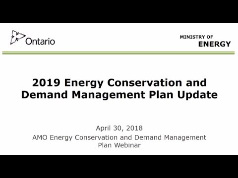 Conservation and Demand Management (CDM) Plans webinar
