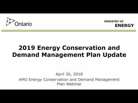 Conservation and Demand Management (CDM) Plans webinar