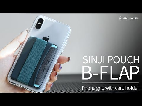 info for 99876 79c3b Sinji Pouch B-Flap -Cell Phone Grip Card Holder with Flap - YouTube