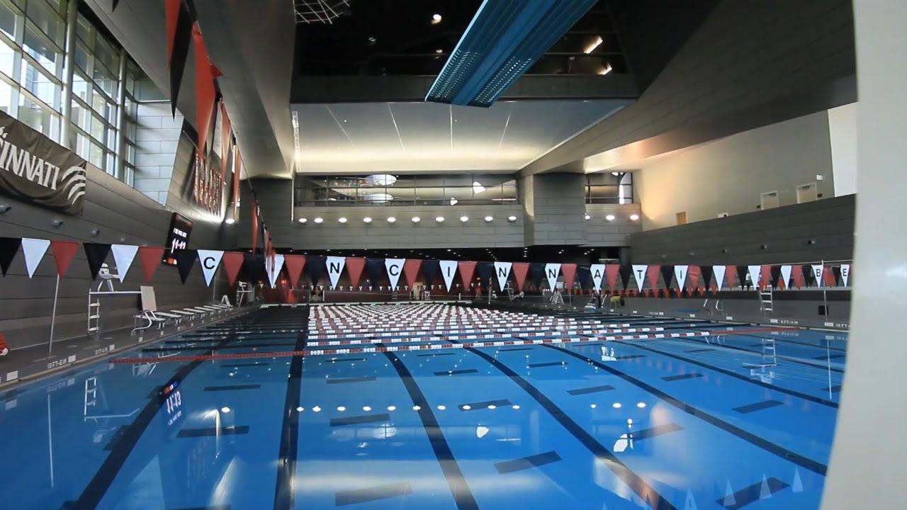 The university of cincinnati athletic facility video keating aquatic center youtube for University of cincinnati swimming pool
