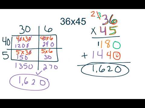 4th Grade GoMath 3 5 Multiply 2 Digit X 2 Digit Numbers Using Regrouping