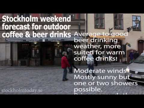 stockholm today weekend forcast