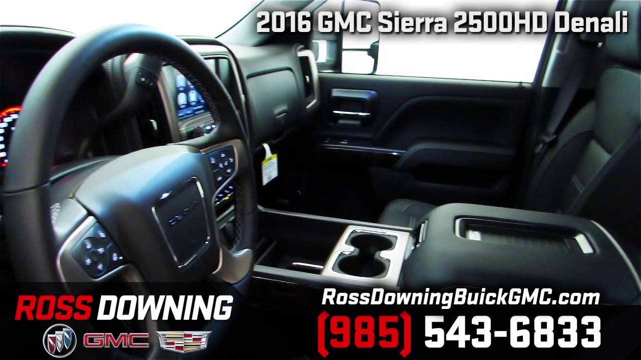 2016 gmc sierra 2500hd denali for sale at ross downing in hammond louisiana youtube. Black Bedroom Furniture Sets. Home Design Ideas