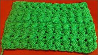 Узор из пышных столбиков. Пышные столбики крючком. Вязание столбиков. Узор крючком. Crochet pattern.