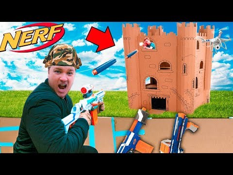 CAPTURE THE BOX FORT TOWER BASE!! 📦💥  EXTREME NERF WAR streaming vf