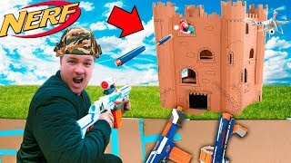CAPTURE THE BOX FORT TOWER BASE!! 📦💥  EXTREME NERF WAR thumbnail