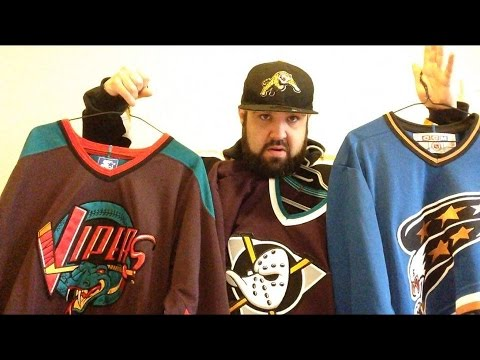 8f609c1d151 Trip to the thrift hockey jersey haul mighty ducks captials polo Detroit  vipers adidas ice cube heat