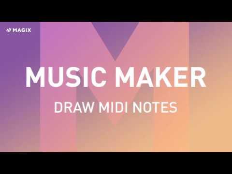MAGIX Music Maker – Draw MIDI notes (2019)
