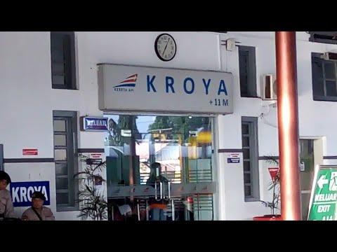 Kedatangan Kereta Api Serayu - Stasiun Kroya