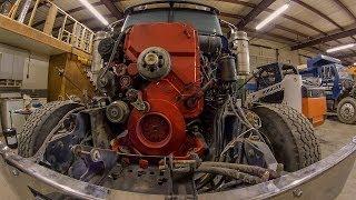 Cummins ISX Engine 1st Start  (International Eagle Quad Dump)