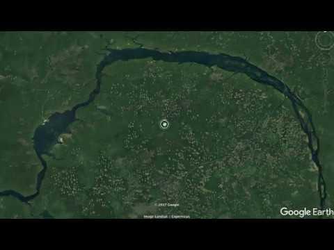 Вырубка леса в Сибири - вид из космоса!