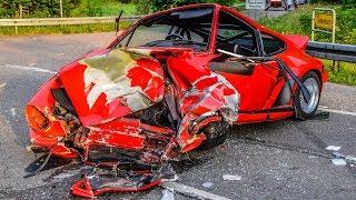 HORROR SPORTWAGEN-CRASH: PORSCHE rast in MERCEDES AMG [Heftiges Trümmerfeld] 5 Verletzte
