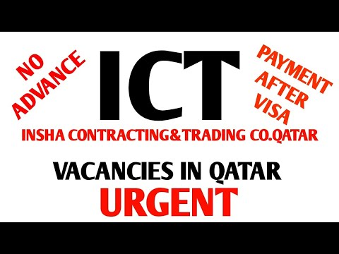 Job in Qatar insha contracting&trading co electrician,plumber,mason urgent  need by Ak&sons job's