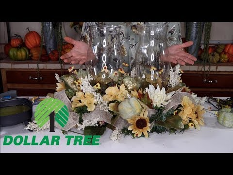 How To Make A Fall Centerpiece (With Dollar Tree Items 2019)