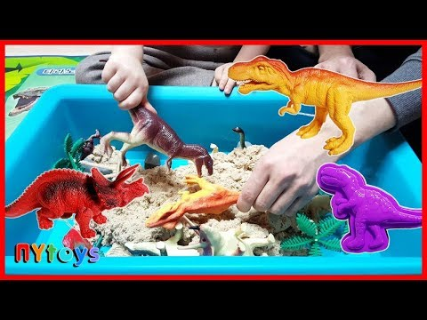 공룡 모래놀이 다이노소어 3D입체 모래 놀이세트 공룡 화석 틀 장난감 놀이 뉴욕이랑 놀자 NY Toys