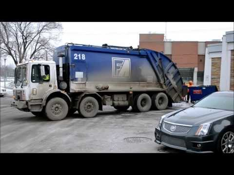 3 GARBAGE TRUCKS SEEN IN LAVAL QUEBEC