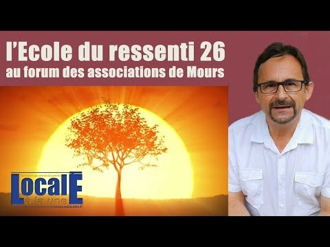 l'ecole du ressenti 26 au forum des associations de Mours