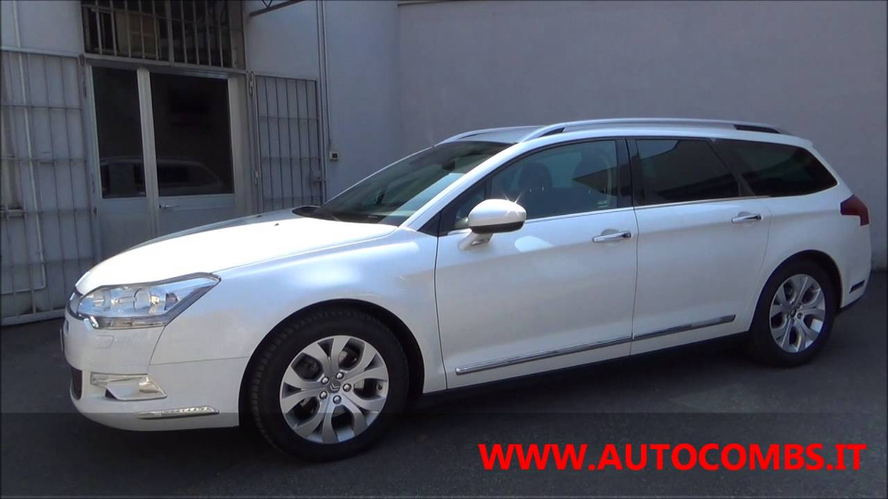 citroen c5 tourer 2 0 hdi 140cv exclusive bianco perla youtube. Black Bedroom Furniture Sets. Home Design Ideas
