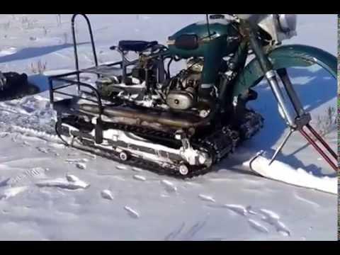 Снегоход своими руками из мотоцикла урал