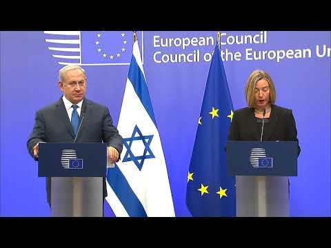 EU's Mogherini Reiterates Jerusalem Position in Meeting with Netanyahu