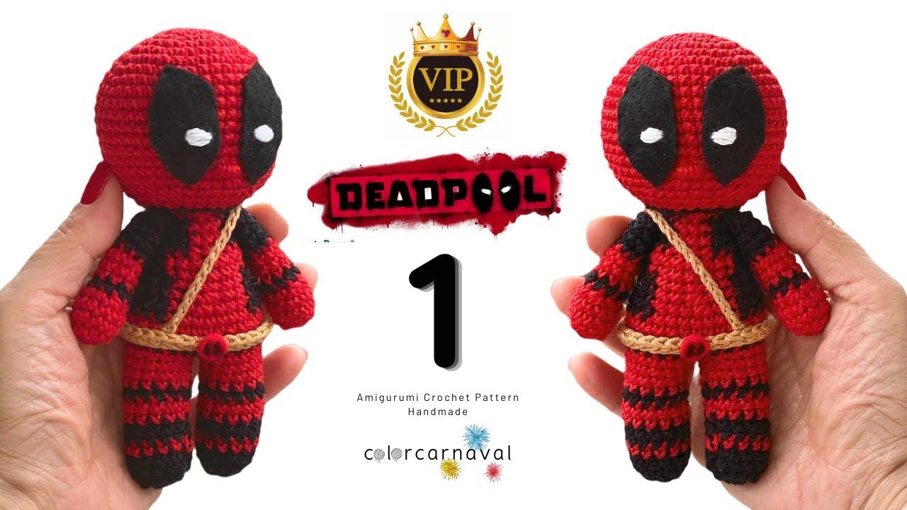 Free Crochet Pattern - DeadPool - Jucarie Crosetata | Crochet toys ... | 720x1280