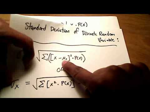 Stats find the mean and standard deviation of discrete random stats find the mean and standard deviation of discrete random variables by hand ccuart Images