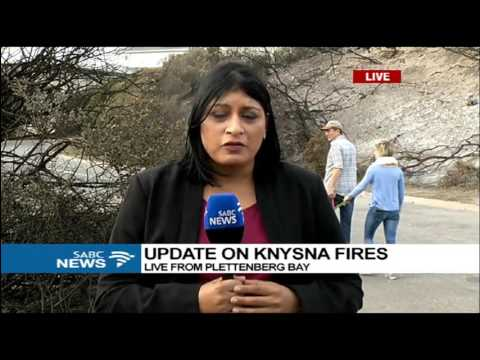 Vanessa Poonah updates on fires Knysna
